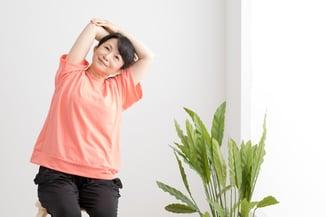Asian woman chair yoga flip 800