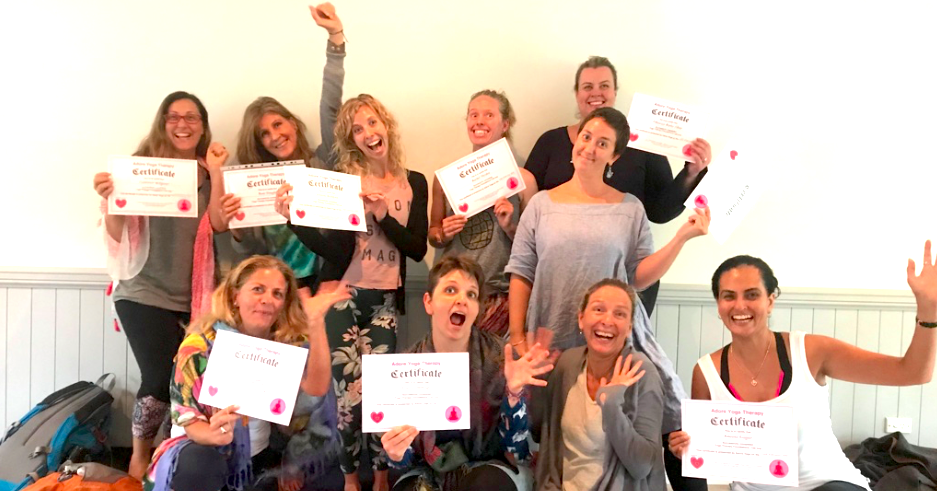 Foundations of yoga therapy graduates