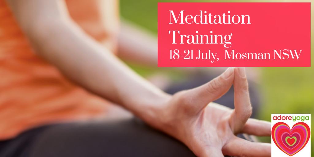 Meditation Training July 2019