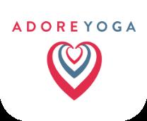 Adore Yoga heart logo